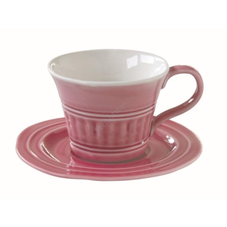 R2S.1866ABDP Porceláncsésze+alj 250ml, Abitare Chic Deep Pink