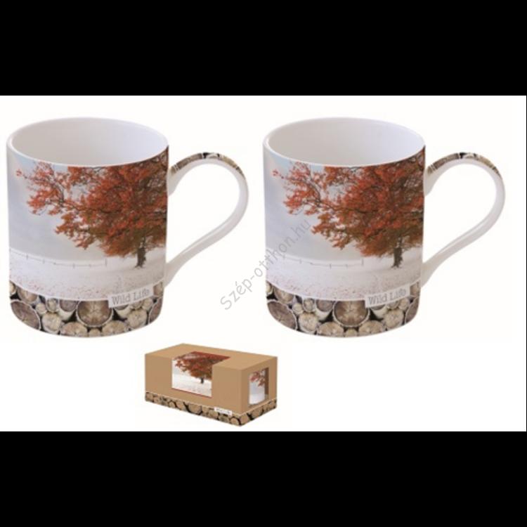 R2S.283WLMT Porcelán bögreszett 350ml,S/2,dobozban,Wild Life-Maple Tree