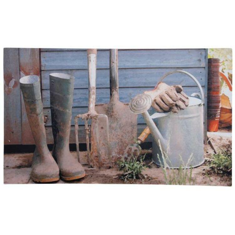 Kerti szerszámos lábtörlő - Cipős szőnyeg, 75 x 45 cm