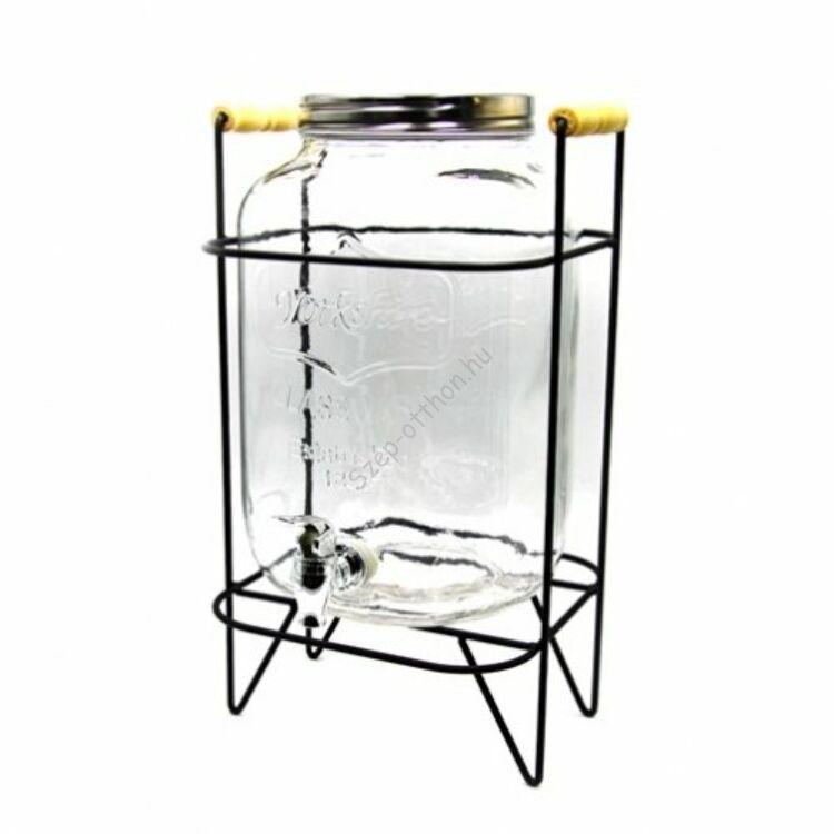 Limonádés üveg állvánnyal 8L