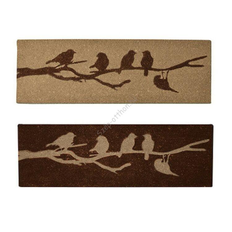 Lábtörlő, madaras, vegyesen, 120 x 40 cm