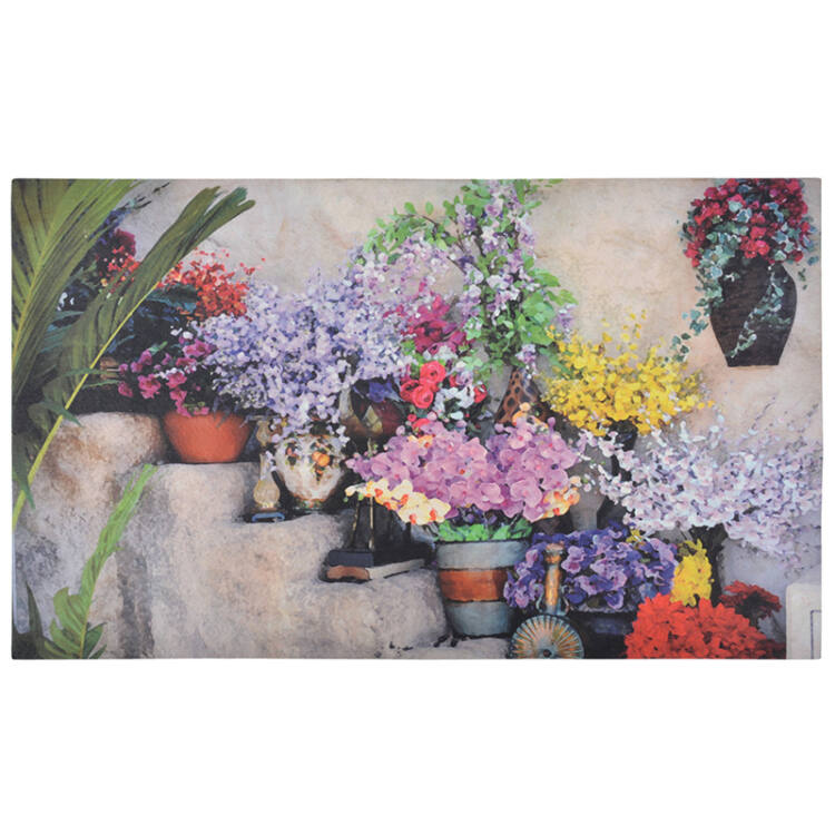 Virágos lábtörlő, 76 x 45 cm