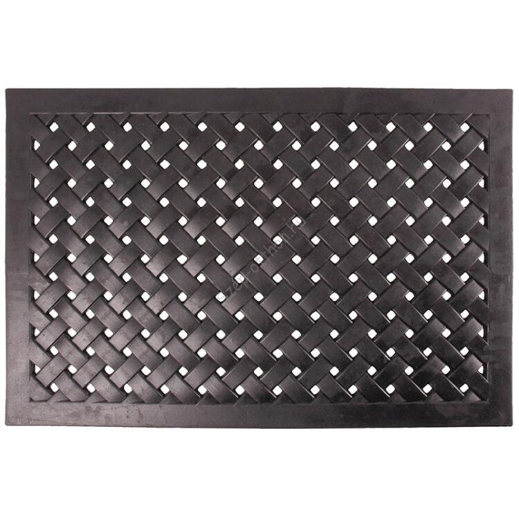 Lábtörlő, gumi, fonott, 76 x 46 cm