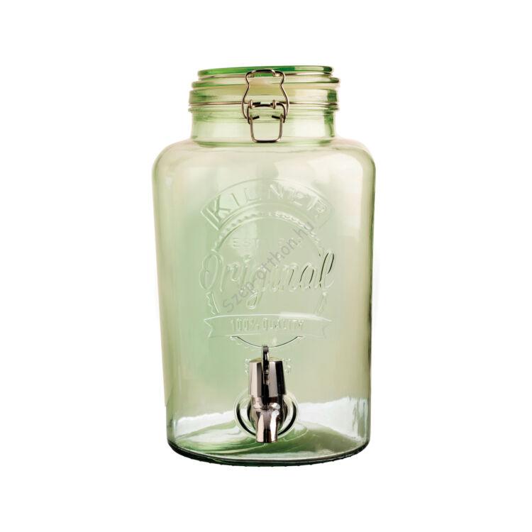 Kilner® limonádé adagoló üveg 5L, zöld