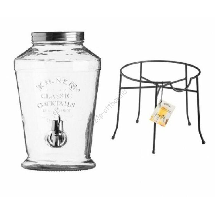 Kilner® limonádé adagoló üveg, fém állvánnyal