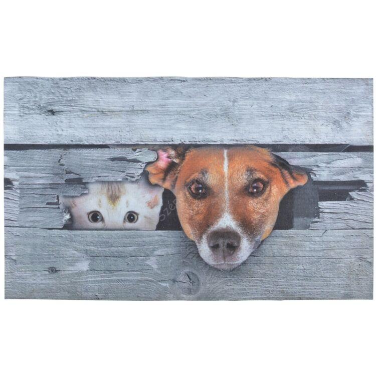 Lábtörlő, cica és kutya mintával