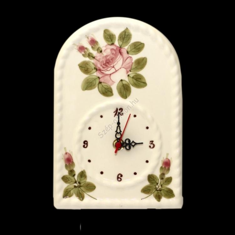 V.K.05-01-17 Romantik rózsás óra, kerámia, kézzel festett