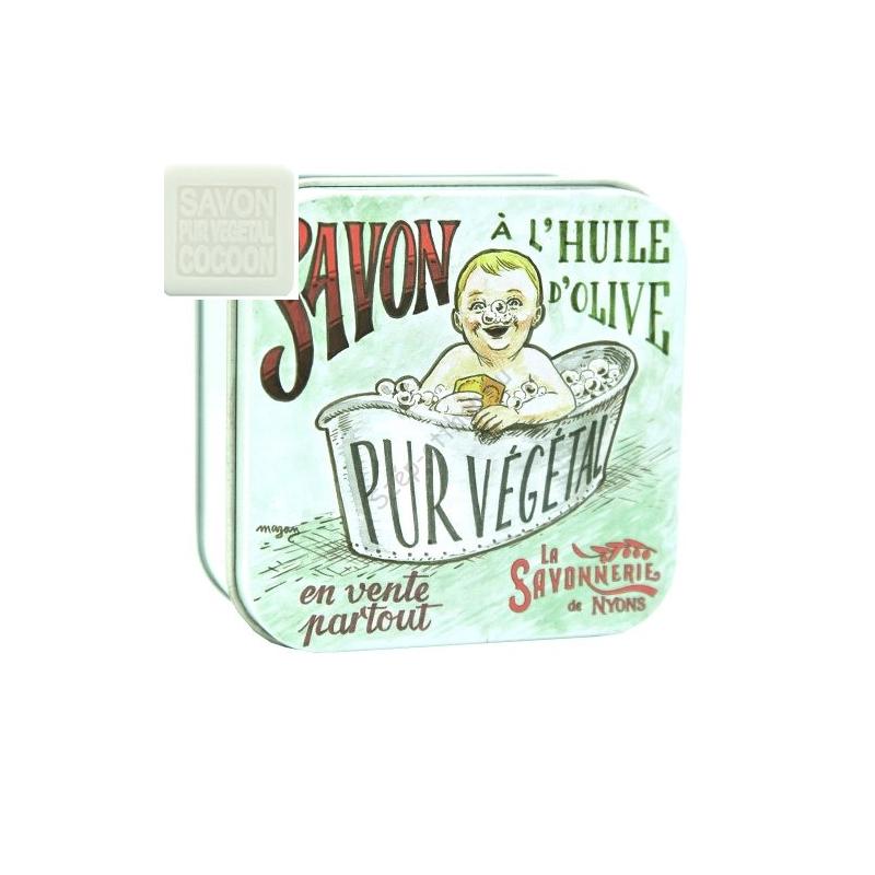 L.S.N.30537 Selyem szappan100gr,shea vajjal és oliva olajjal,Baby Collection fémdobozban