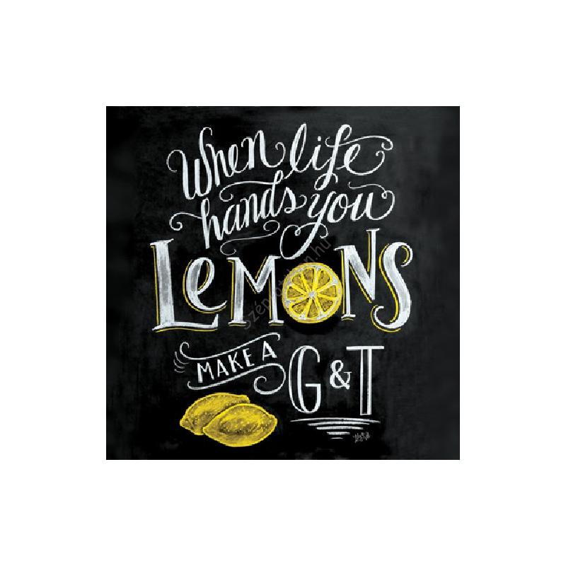 PPD.C1332462 Blackboard Lemons papírszalvéta 33x33cm, 20db-os