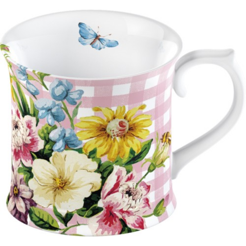C.T.MG3673 Porcelán bögre 350ml, Pink,English Garden