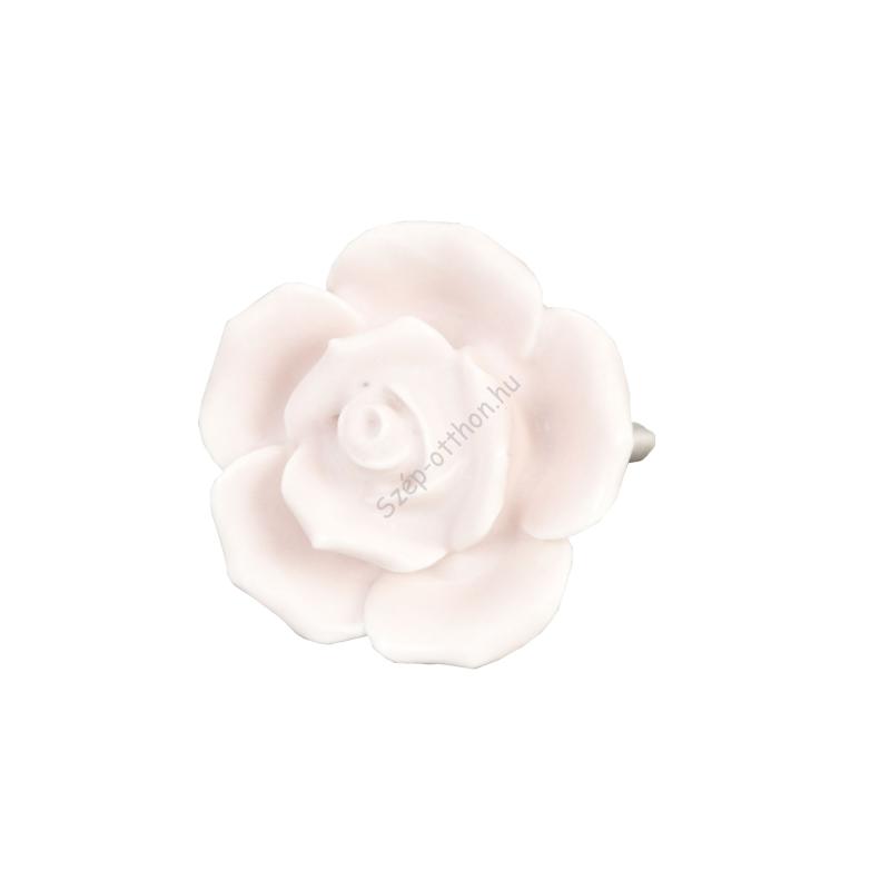Clayre & Eef 61861 Ajtófogantyú 4,5cm, rózsaszín rózsa