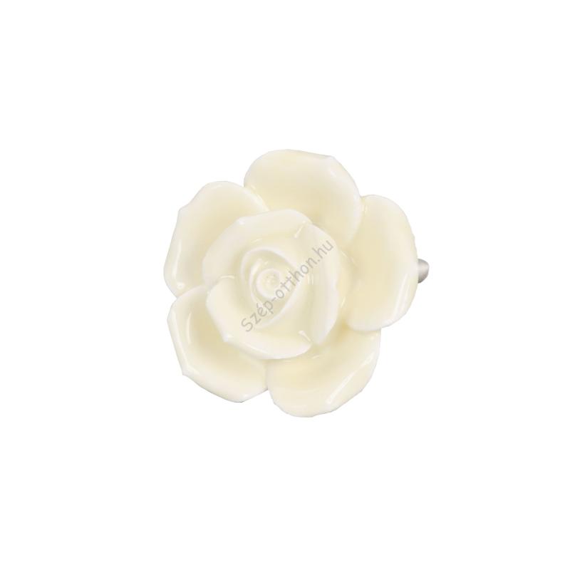 Clayre & Eef 61865 Ajtófogantyú 4,5cm,sárga rózsa