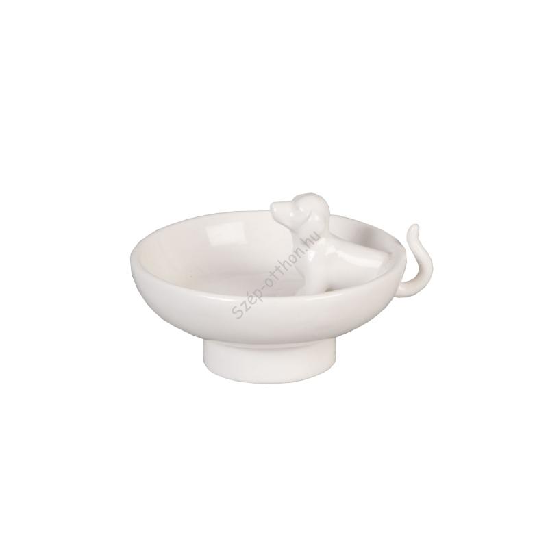 Clayre & Eef 6CE0279 Porcelán tálka 8x6cm,kutyás