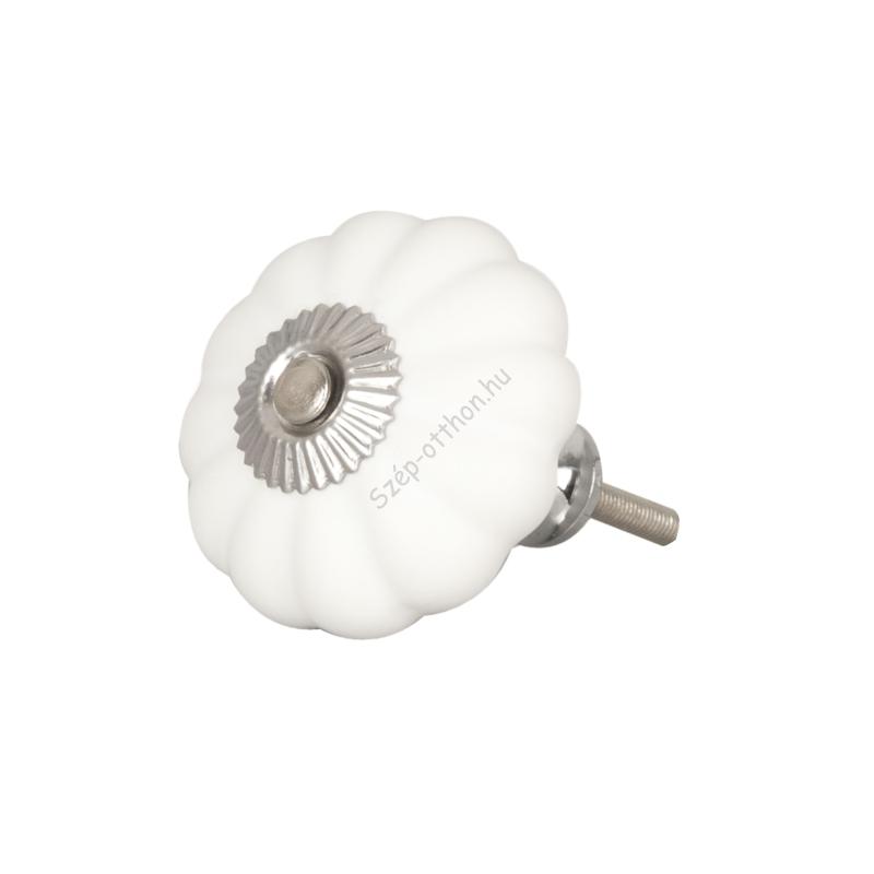 Clayre & Eef 62550 Ajtófogantyú 5cm, porcelán, fehér