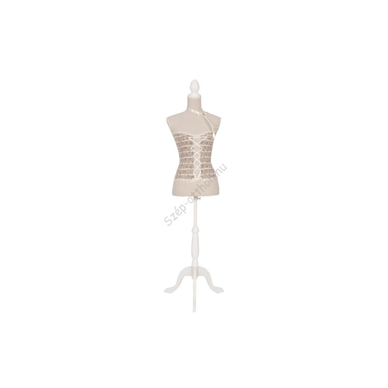 Clayre & Eef BU0018 Próba baba textil bevonatú 37x23x160cm,fűzős