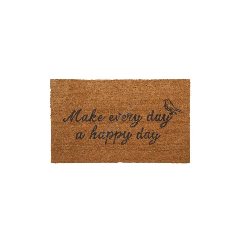 "Clayre & Eef MC088 Lábtörlő 75x45 cm, ""Make every day a happy day"""