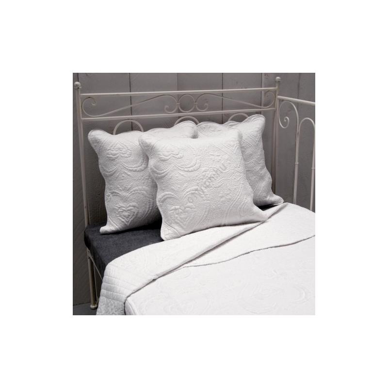 Clayre & Eef Q145.060 Steppelt ágytakaró 180x260cm, fehér
