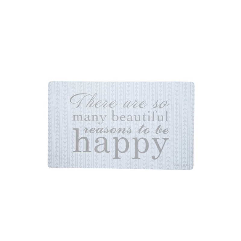 "Clayre & Eef MC098 Előszoba belépő 73x44cm, "" There are so many beautiful reasons to be happy"""
