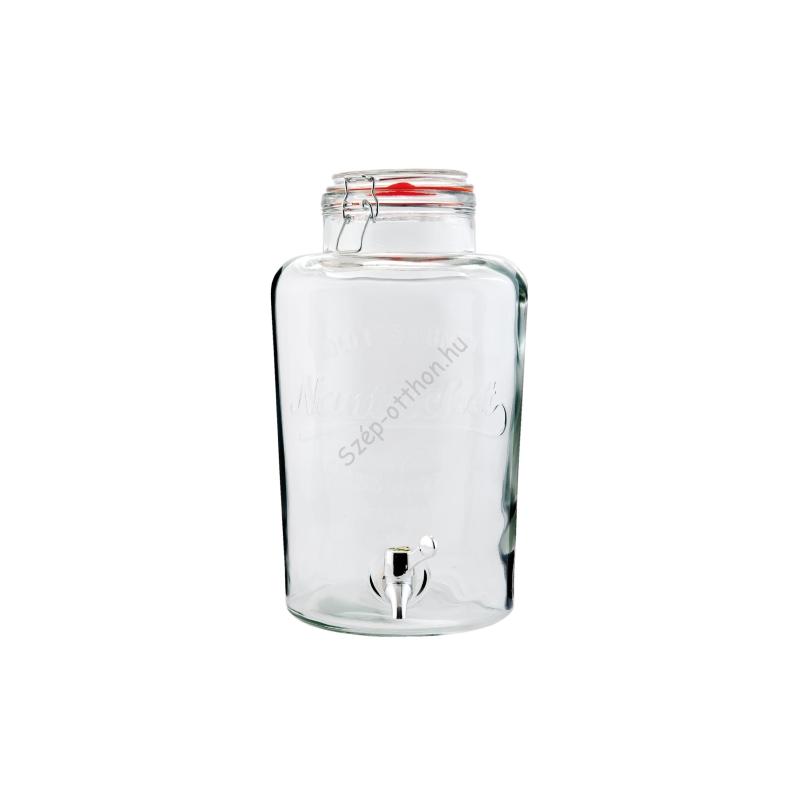 Clayre & Eef 6GL1530 Limonádé csapoló üveg csatos tetővel 21x35cm (7,5L)