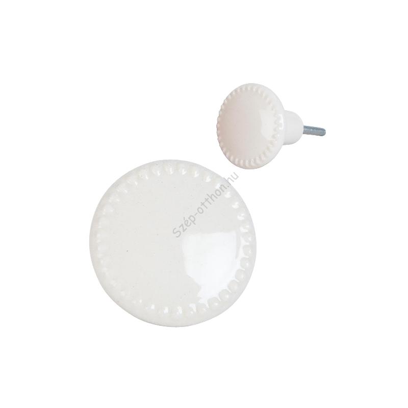 Clayre & Eef 63436 Ajtófogantyú porcelán 4cm,krém színű
