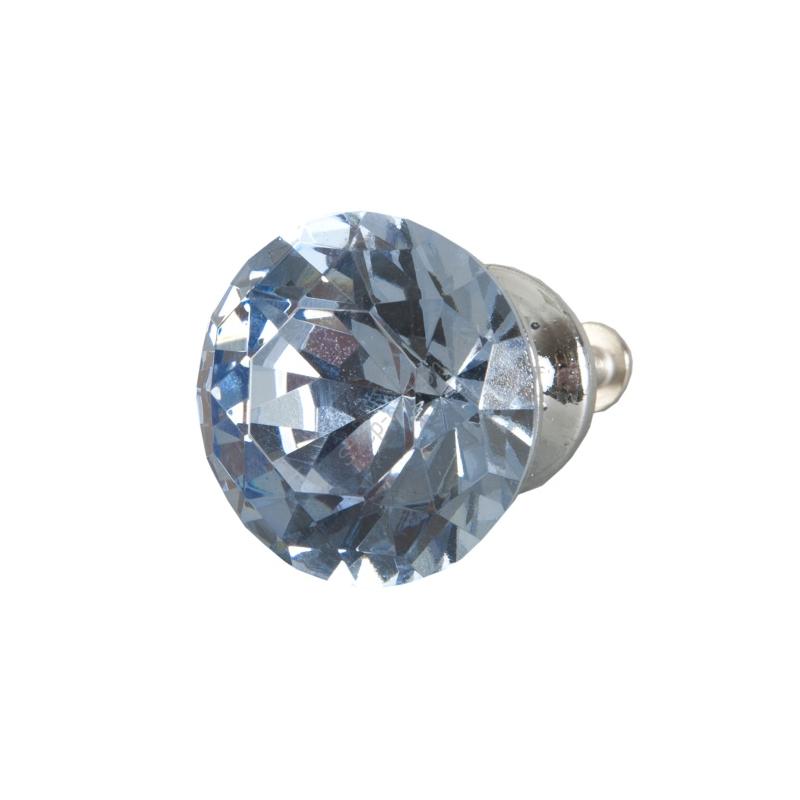 Clayre & Eef 62646 Ajtófogantyú 3cm üveg, kék