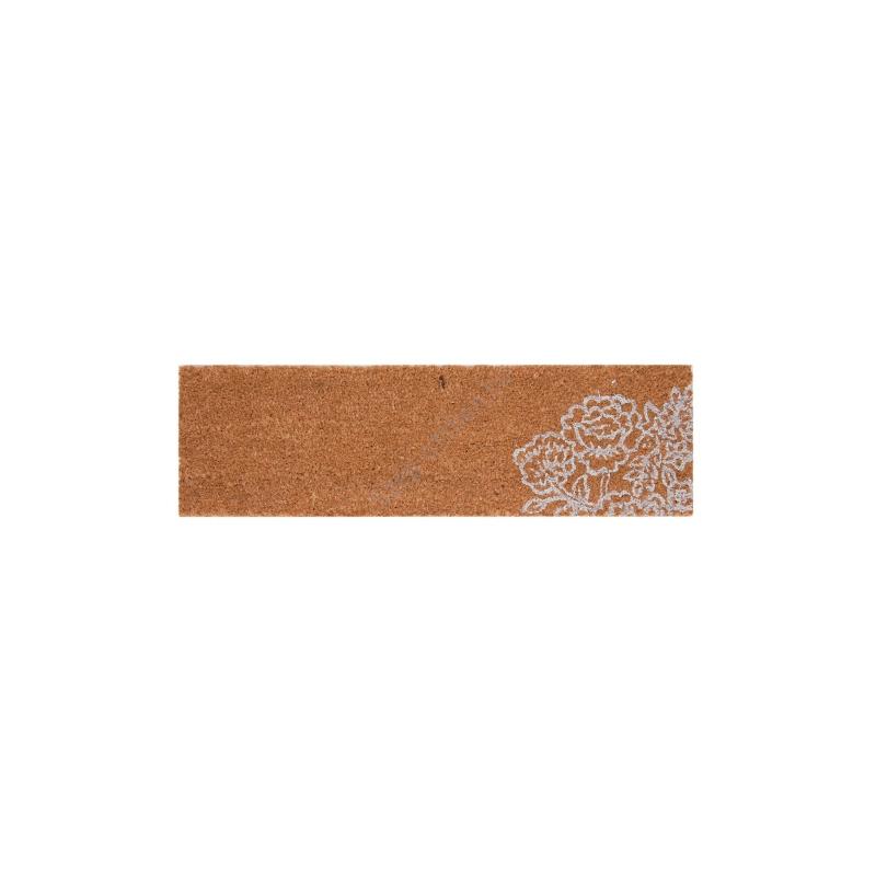 Clayre & Eef MC115 Lábtörlő 75x22cm, fehér rózsás