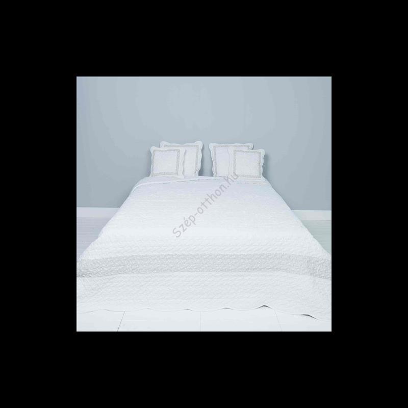 Clayre & Eef Q172.060 Steppelt ágytakaró 180x260cm, fehér csipke rózsás