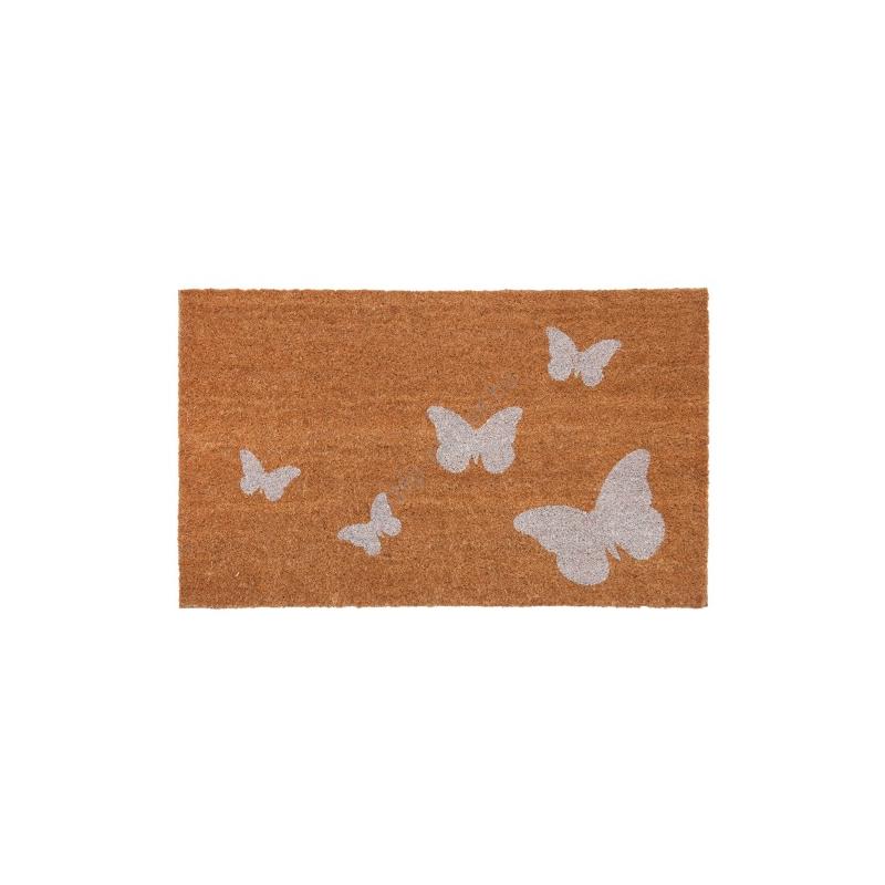 Clayre & Eef MC121 Lábtörlő 75x45cm,fehér pillangós