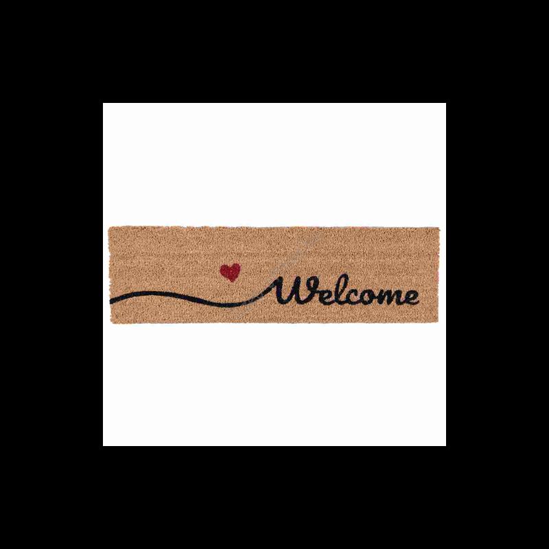 """Clayre & Eef MC128 Lábtörlő 75x22cm, """" Welcome"""""""