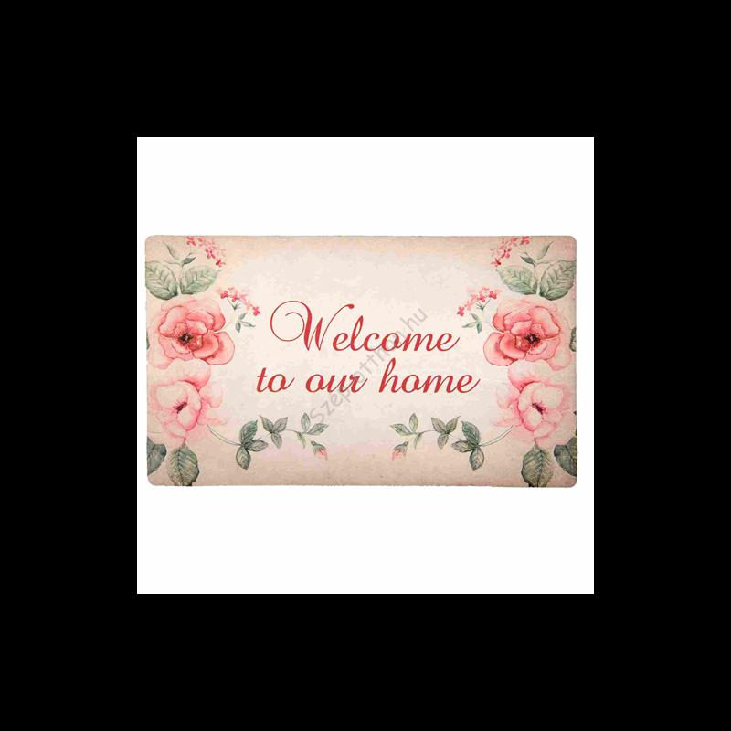 """Clayre & Eef GARMC Előszoba belépő 74x44cm, rózsás, """" Welcome to our home"""""""