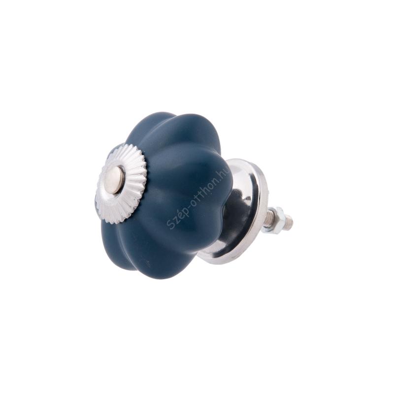 CLEEF.63801 Ajtófogantyú 4x3cm, sötét kék ezüst rátéttel
