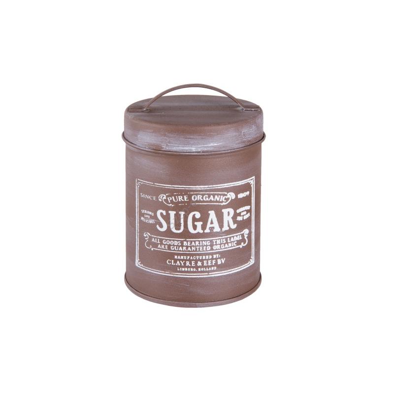 CLEEF.6Y2552 Fém tároló doboz tetővel 7x12cm, Sugar 0,35l