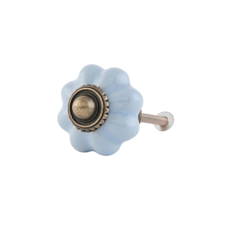 Clayre & Eef 63504 Porcelán ajtógomb világoskék,3cm