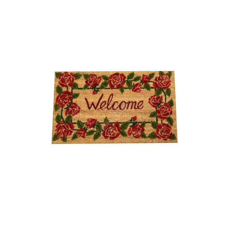Clayre & Eef ROMC Lábtörlő 45x75cm,rózsa