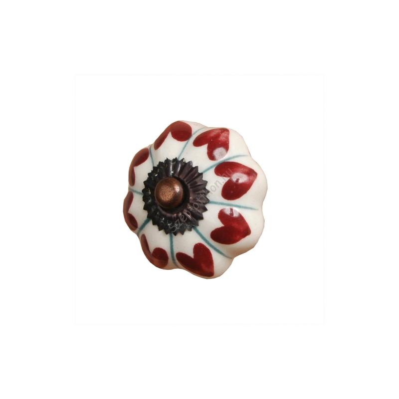 Clayre & Eef 60063 Ajtófogantyú 5x7,5cm,piros szives