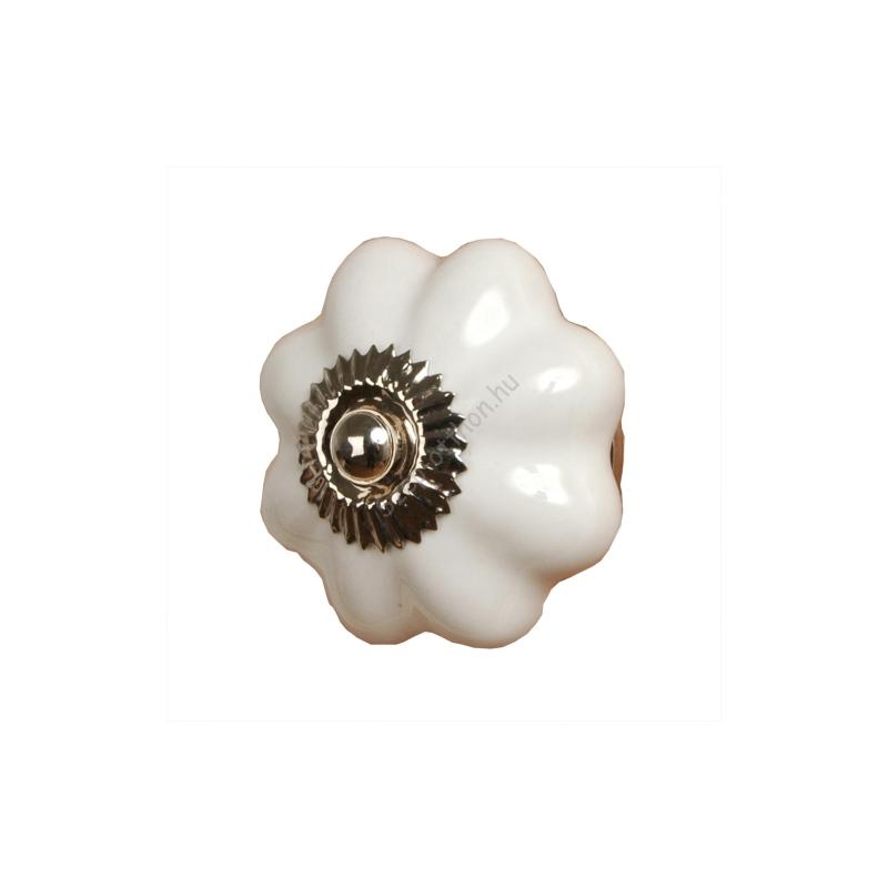 Clayre & Eef 60071 Ajtófogantyú 3,5x3,5x7cm,fehér