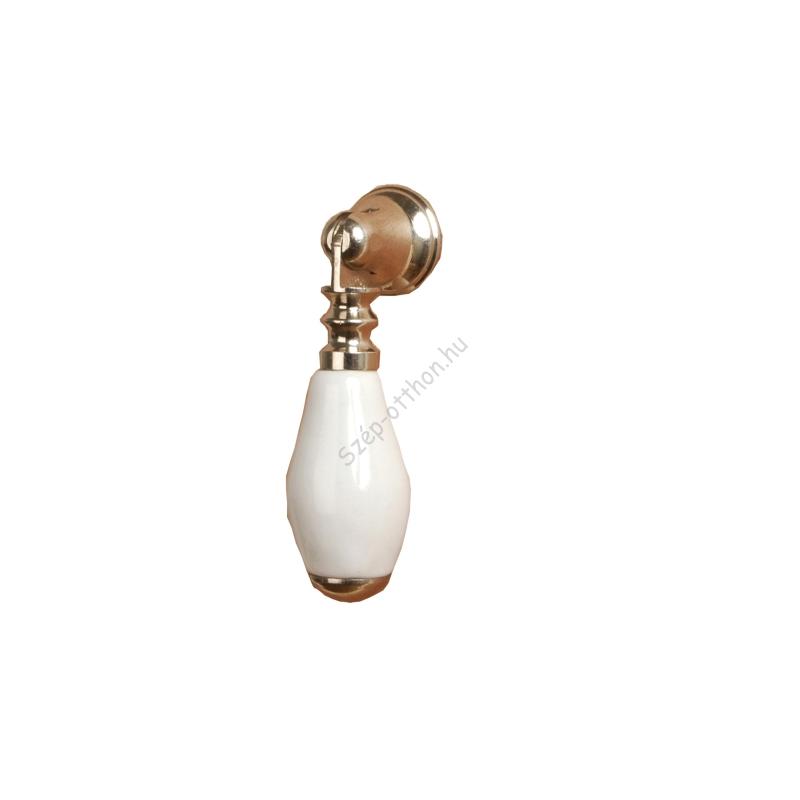 Clayre & Eef 60076W Ajtófogantyú,5,5cm,hosszúkás,fehér
