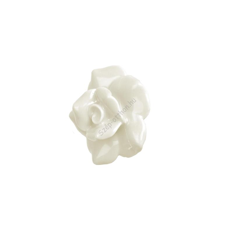 Clayre & Eef 60078N Ajtófogantyú,rózsa 5cm,fehér