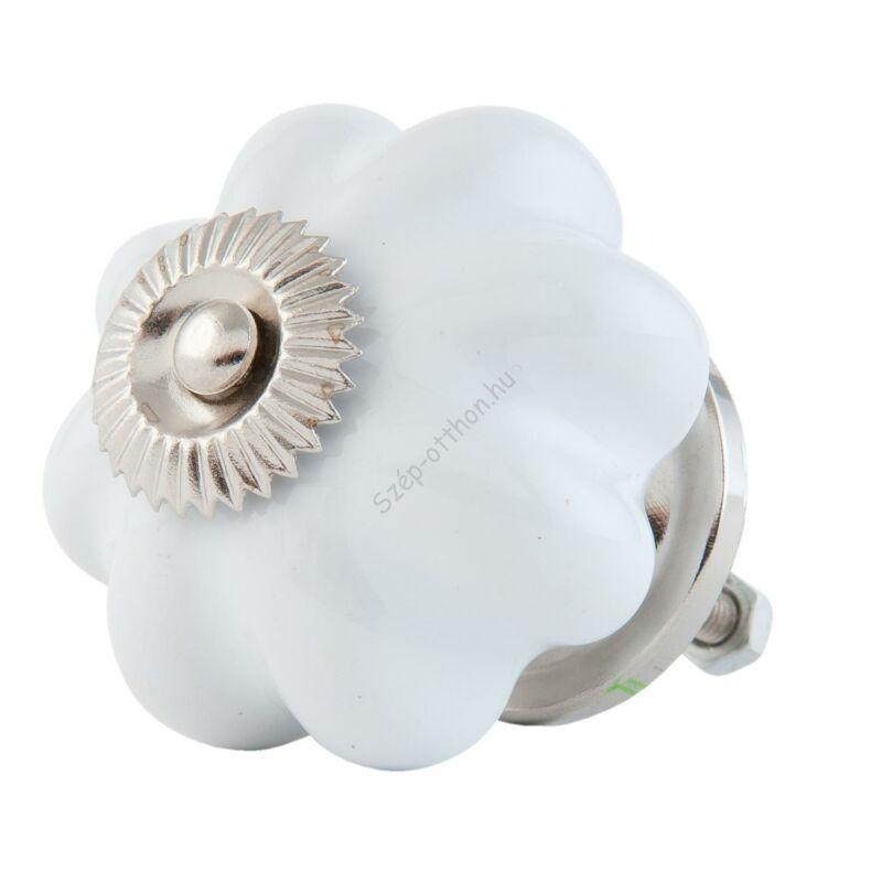 CLEEF.63514 Ajtófogantyú porcelán gomb 4cm, fehér