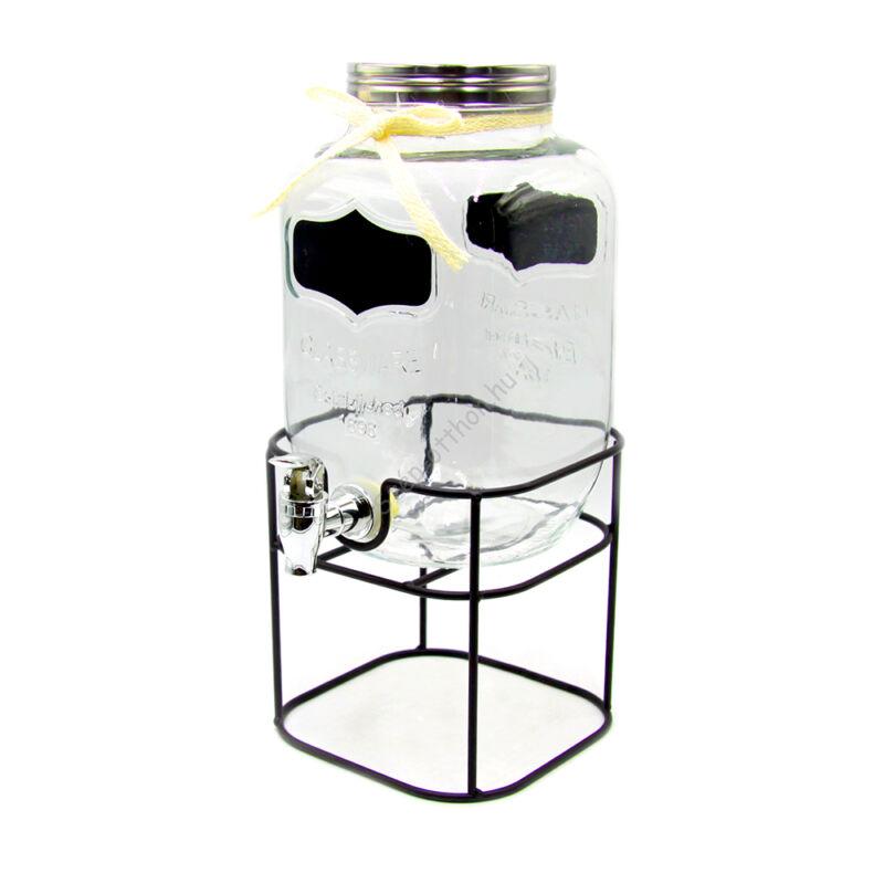 Limonádés üveg állvánnyal 4L