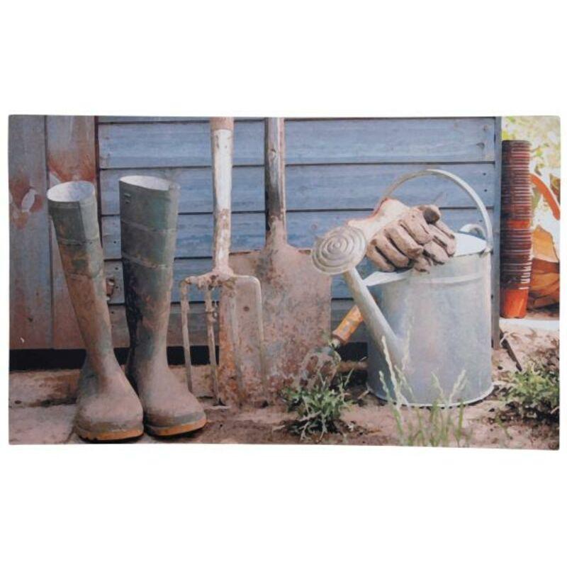 Kerti szerszámos lábtörlő - Cipős szőnyeg