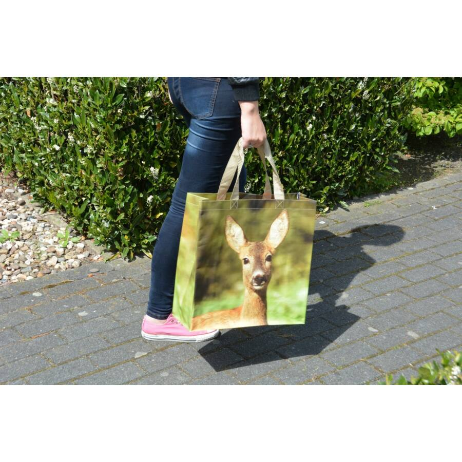 c1cc8c460e0d B.TP162 Bevásárló táska, állatmintás, őzike - Bevásárló táska - Szép ...