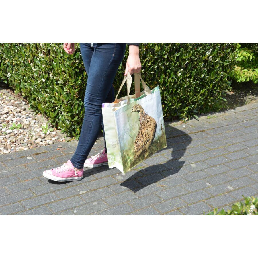 83fe4984cfa7 B.TP162 Bevásárló táska, állatmintás, fácán - Bevásárló táska - Szép ...